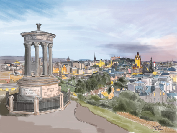 Print of Edinburgh from Carlton Hills