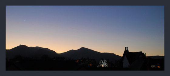 Clear sky silhouette (panorama)
