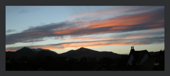 Silhouette sunset (panorama)
